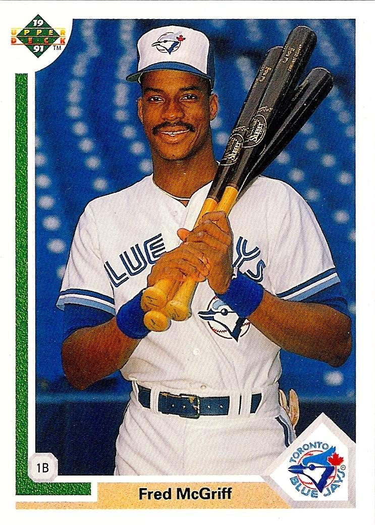 1991 Upper Deck Baseball Card Of Fred Mcgriff 1991 Upper Deck