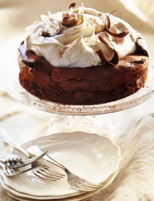 Chocolate Cloud Cake Recipe Cloud cake Flourless cake and Cloud
