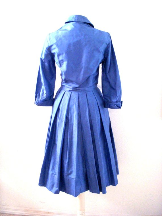 Blue Taffeta Dress