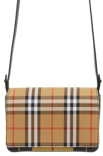 Burberry Hampshire Tartan Mix Crossbody Bag  94d8328087657
