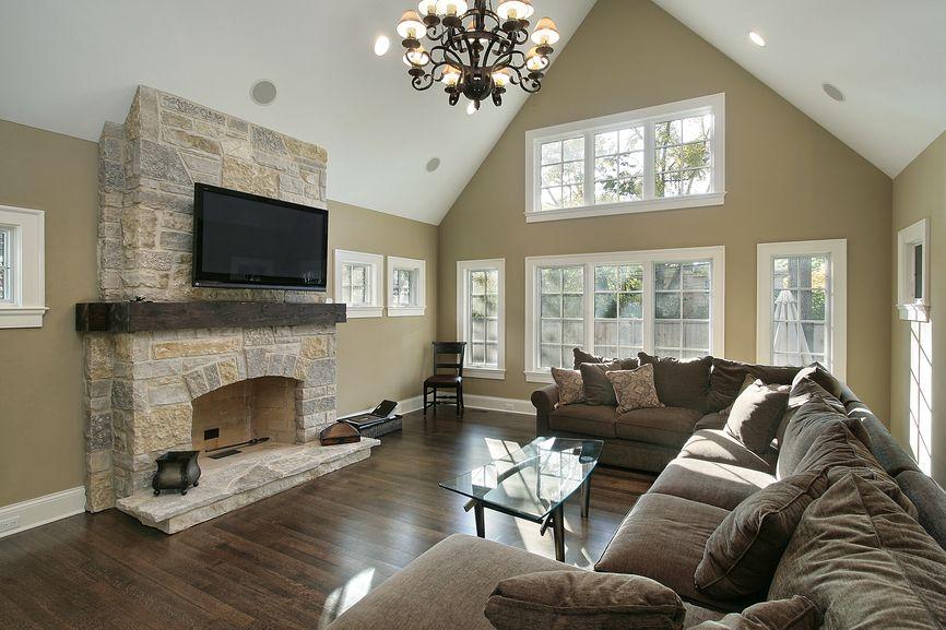 50 Fabulous Family Room Design Ideas Photos Vaulted Ceiling Living Room Family Room Colors Family Room Addition