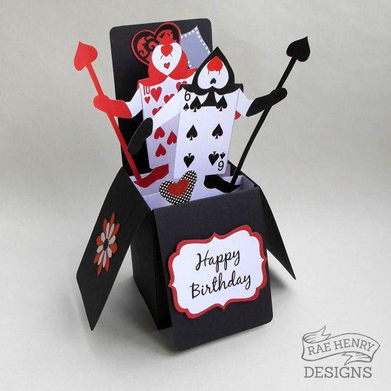 Alice in Wonderland Birthday Card Pop Up 3D by RaeHenryDesigns – Alice in Wonderland Birthday Cards