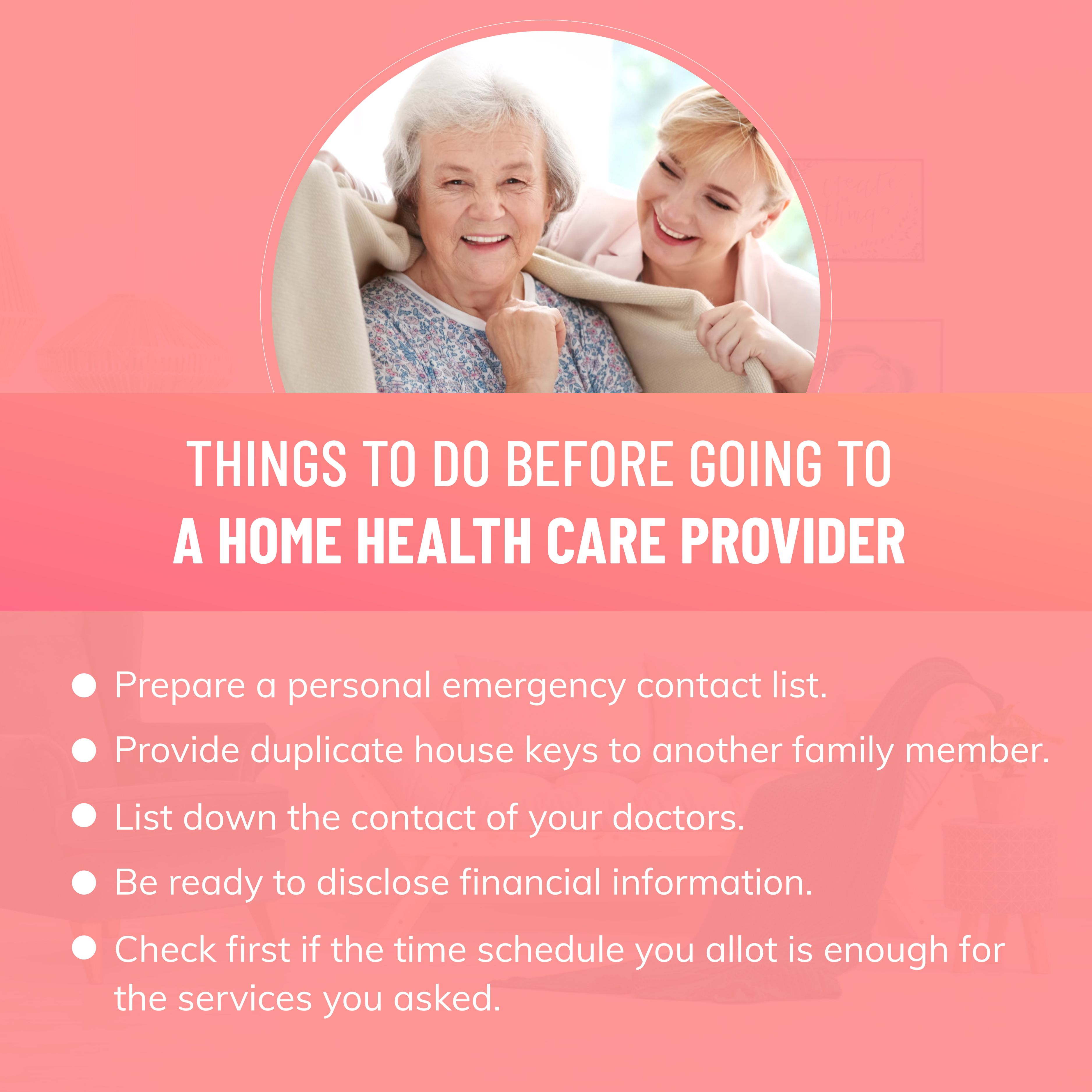 Things To Do Before Going To A Home Health Care Provider