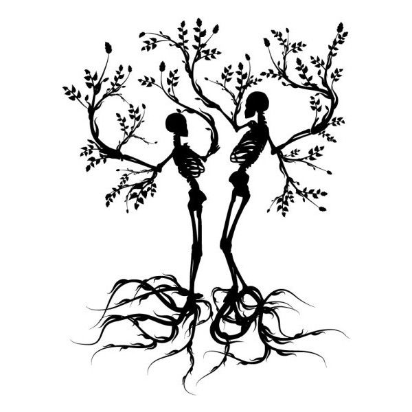 2 skeleton trees! Graphic Resources ❤ liked on Polyvore featuring backgrounds, fillers, sketch, art, black, quotes, text, phrase and saying