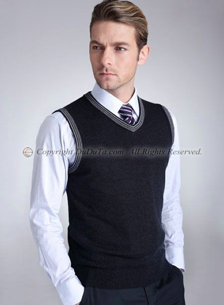 Men V-neck Sleeveless Sweater Vest , Sweaters, Men Sweater ...