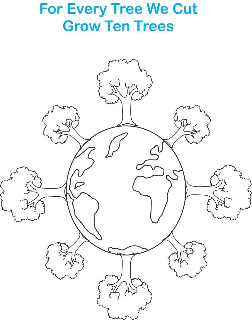 Earth Day Printable Coloring Page For Kids 7 Earth Coloring