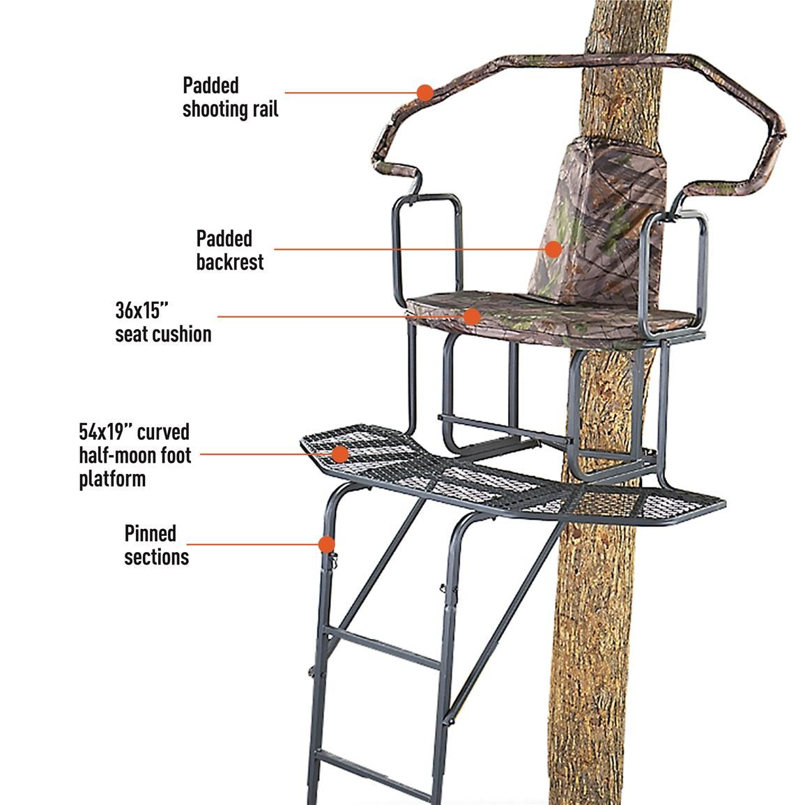 Features Amp Benefits Ladder Tree Stands Ladder Stands