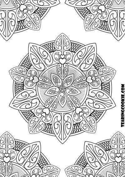 Maori Inspired Mandala Mandala Coloring Pages Pattern Sketch Mandala