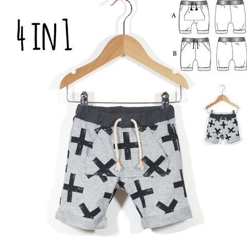 Biarritz Short Jogpants - Baby Boy - PDF Sewing Pattern