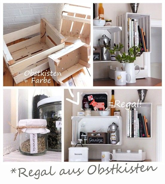 regal aus obstkisten frechspatzfreitag pinterest ikea hack fruit box and upcycling. Black Bedroom Furniture Sets. Home Design Ideas