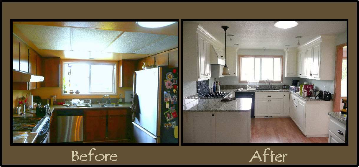 see a kitchen remodel project before and after the project was