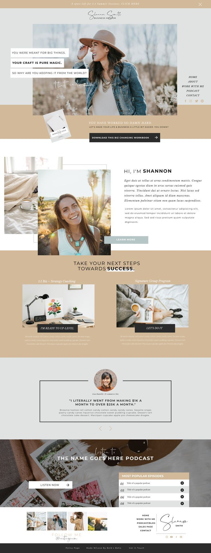 The Wildly Wealthy Website Template