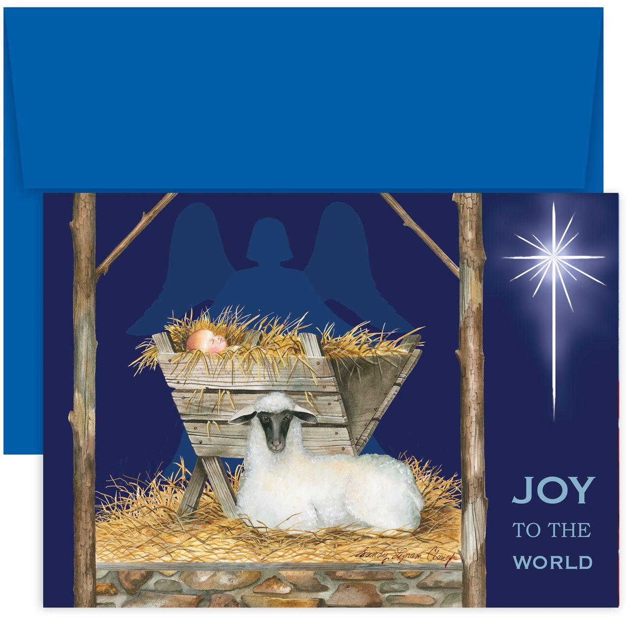 MyCards4Less - Joy To The World Religious Christmas Card, $14.40 ...