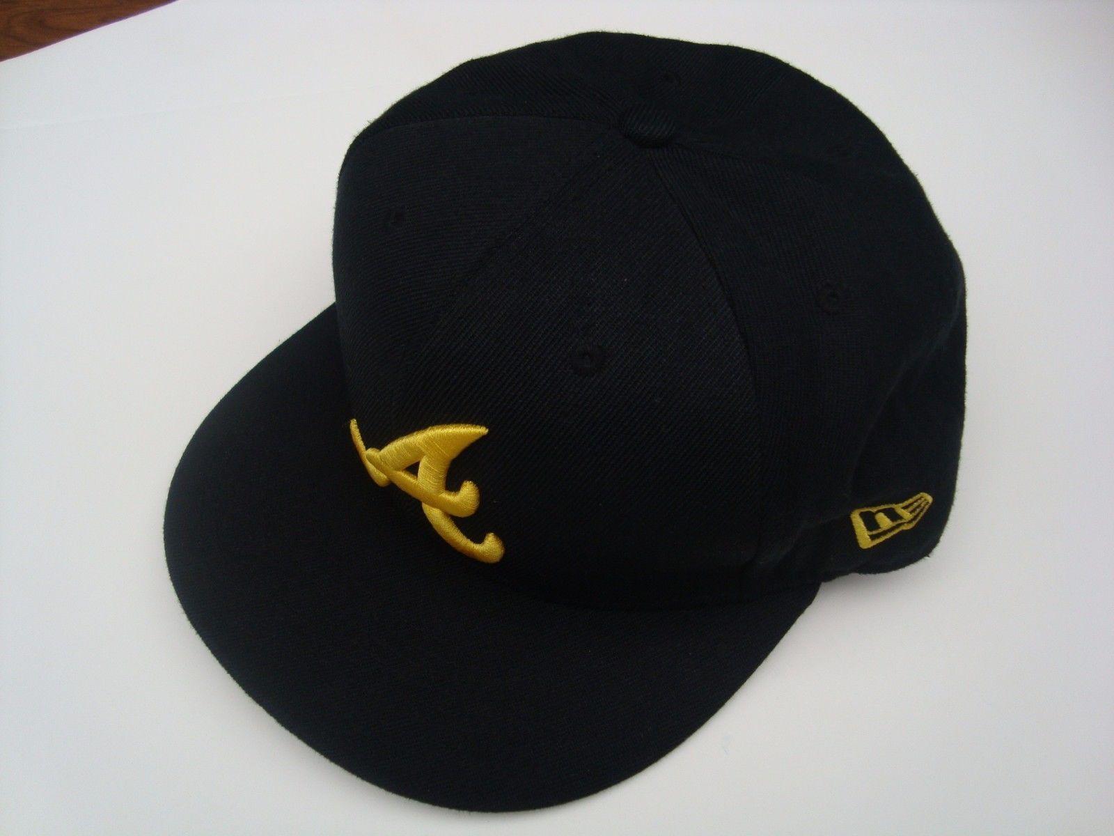79e466e4e59 ... spain ebay baseball hats rare new era 59 fifty atlanta braves baseball  cap black w gold