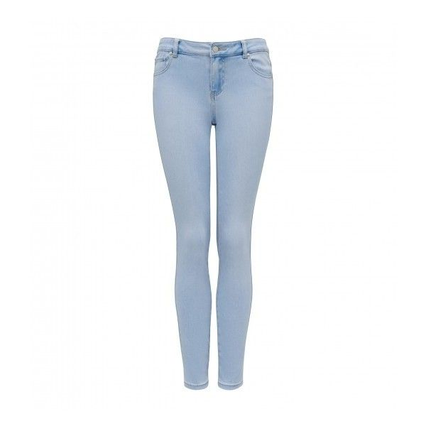 Forever New Rosie Low Rise Skinny Jeans (90 AUD) ❤ liked on Polyvore featuring jeans, low rise skinny jeans, skinny jeans, forever new, denim skinny jeans and low rise white jeans
