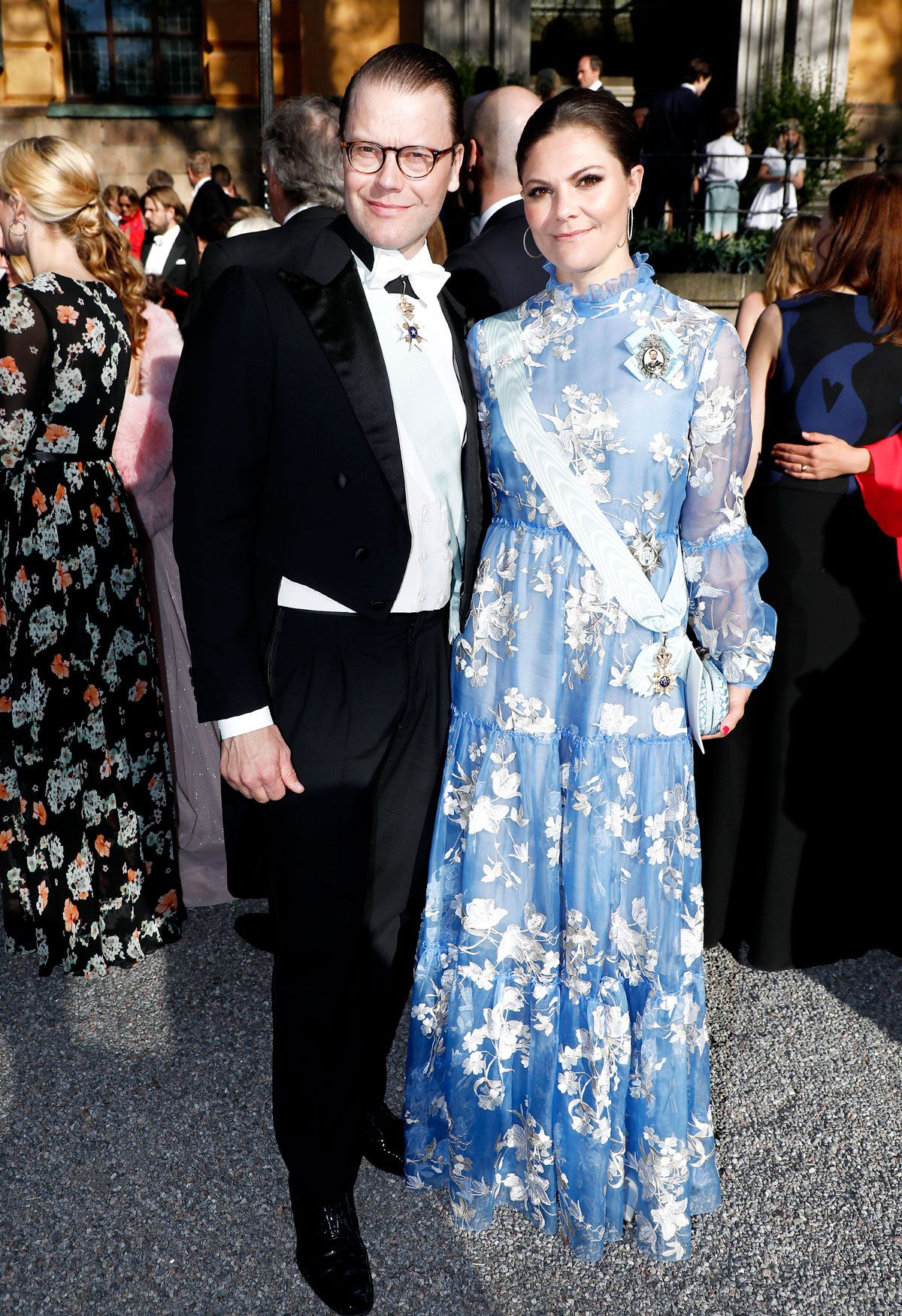 Prince Daniel and Crown Princess Victoria of Sweden attend a wedding at the  Hedvig Eleonora Church on 12 May 2018 in Stockholm b91a5f7049761