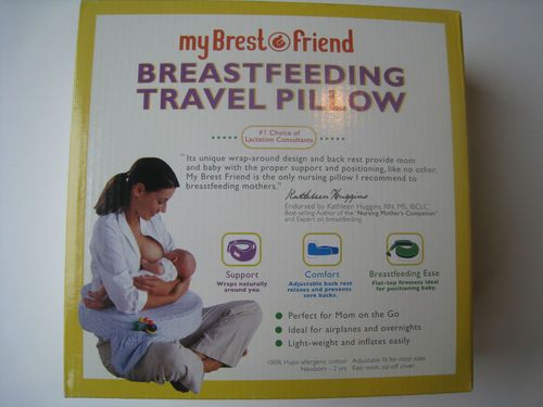 My Brest Friend Breastfeeding Travel Pillow Navy Blue Clouds NWT
