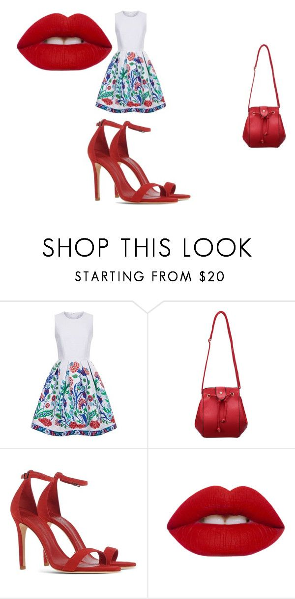 """""""Untitled #1"""" by elza-345 ❤ liked on Polyvore featuring Andrew Gn, Schutz and Lime Crime"""