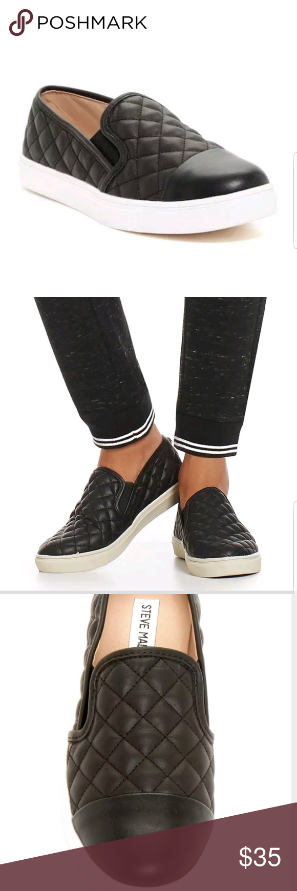 b7b81773a27 Steve Madden Zaander Slip-On Sneaker Reg  59.95 NEW These are the floor  model (bottoms are a little dirty due to being the floor model) Details  Somewhere ...