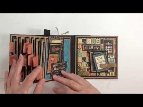 Graphic 45 Typography Paper Bag Mini Album
