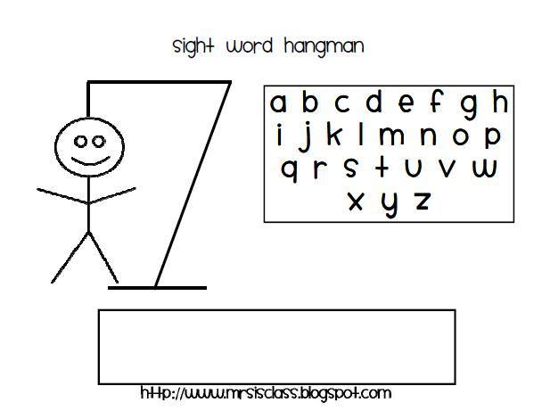 Mrs. I's Class: Sight Word Hangman (freebie) | Teaching ...