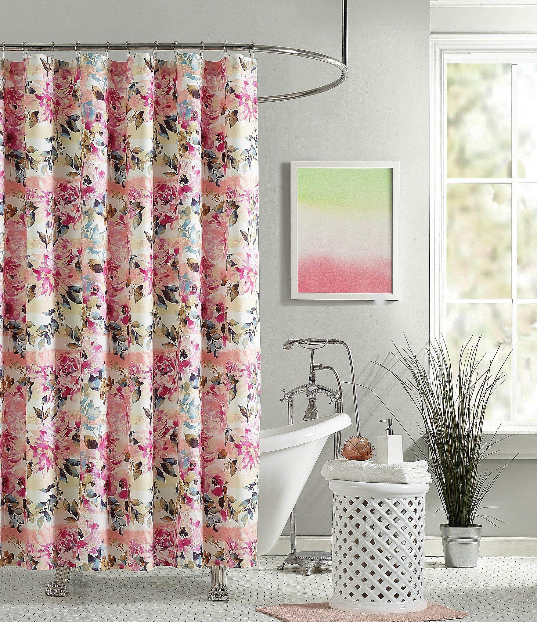 Jessica Simpson Bellisima Shower Curtain Powder Room Decor