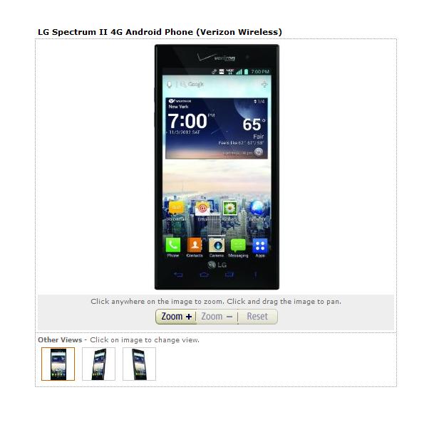 Lg Spectrum Ii 4g Android Phone Verizon Wireless Verizon Wireless Android Phone Wireless