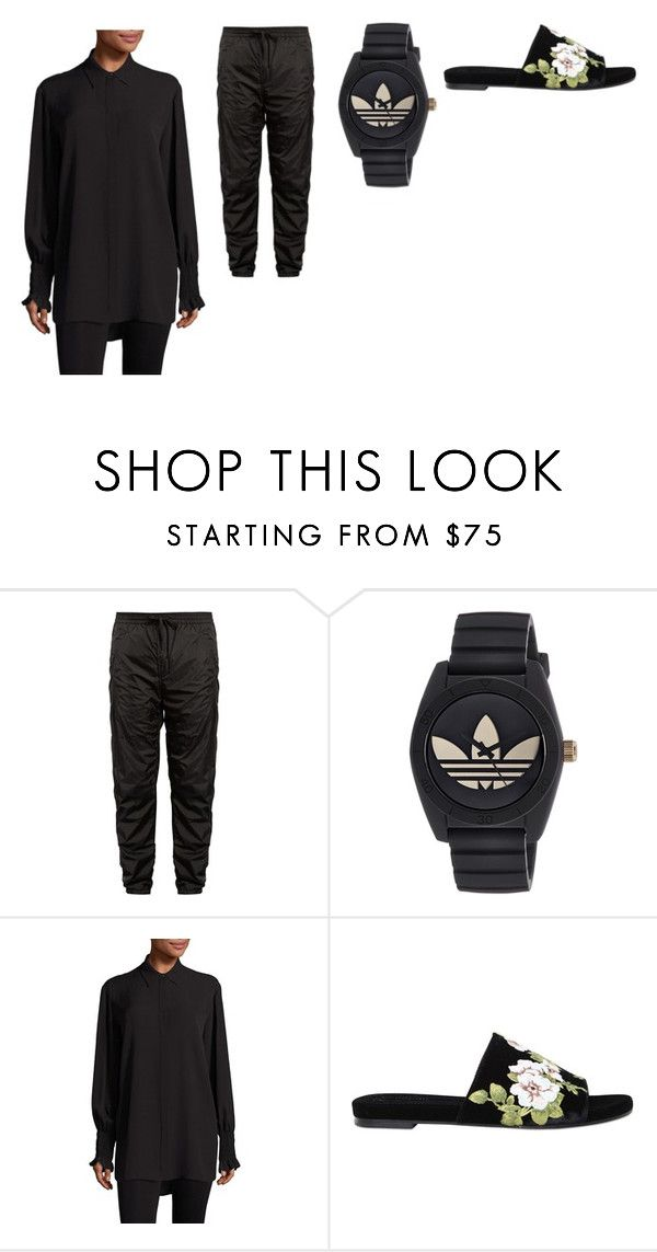 """""""i got four bars"""" by hooleahoolea on Polyvore featuring Alexander Wang, adidas, The Row et Rochas"""