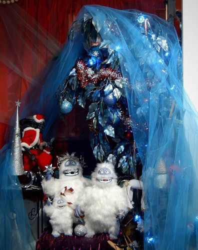 Christmas Bumble Abominable Snowman Corner lght Snowman and Santa