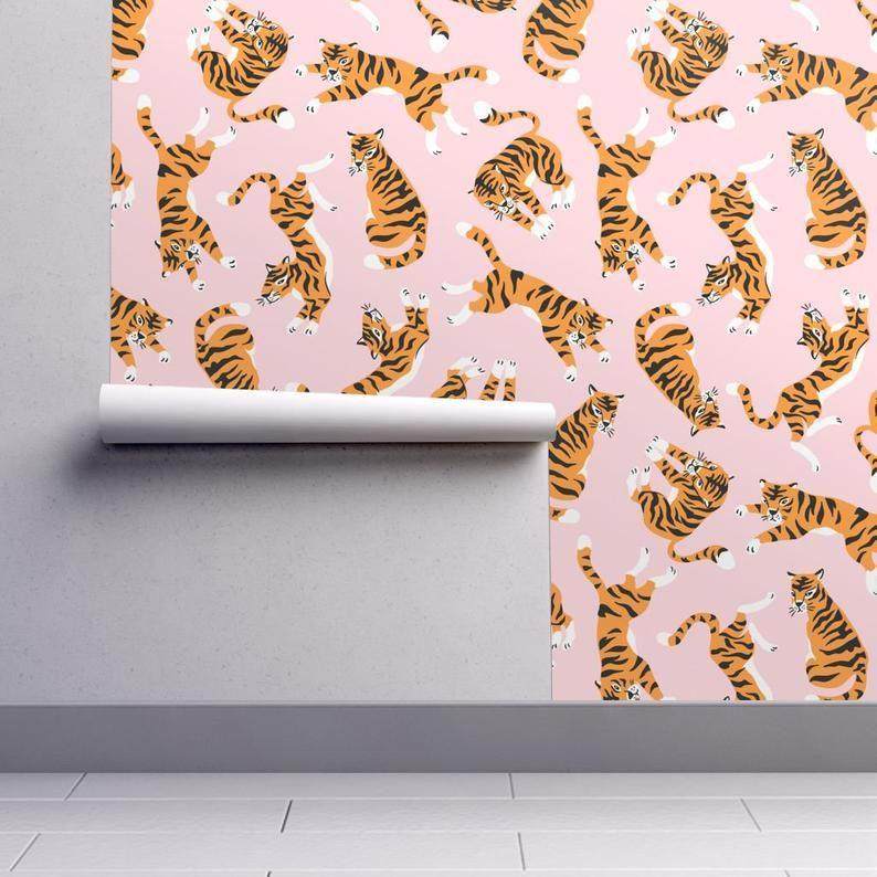 Animal Wallpaper Tigers On Pink By Alenkakarabanova Kids
