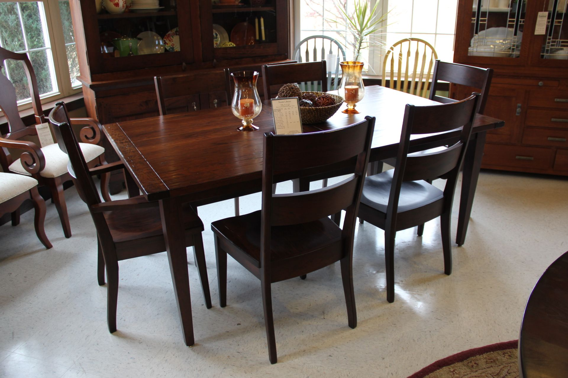 A Sturdy Solid Wood Dining Room Table And Chairs ShopGF