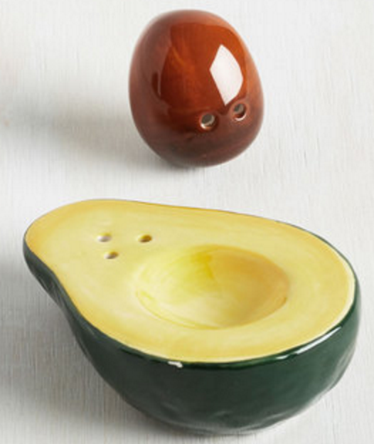 We Will, We Will Guac You Shaker Set. Your Cooking Is Off The Charts, But  This Set Of Salt And Pepper Shakers   Fashioned Into Half An Avocado   Is  About To ...