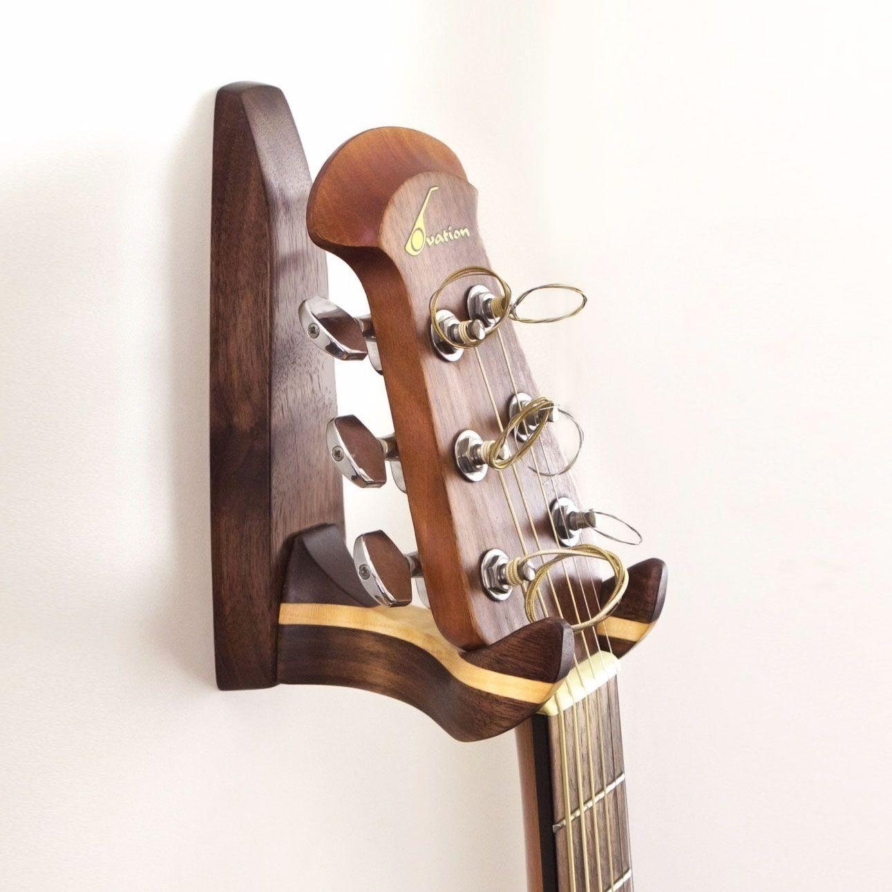 Wooden Guitar Wall Hanger Dotandbo Com Guitar Wall Hanger Guitar Wall Guitar Hanger