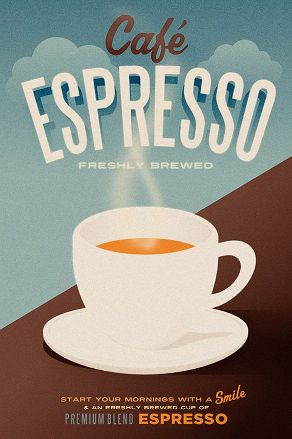 Cafe Espresso Poster - Art Print | Twentyone Creative | Pinterest ...