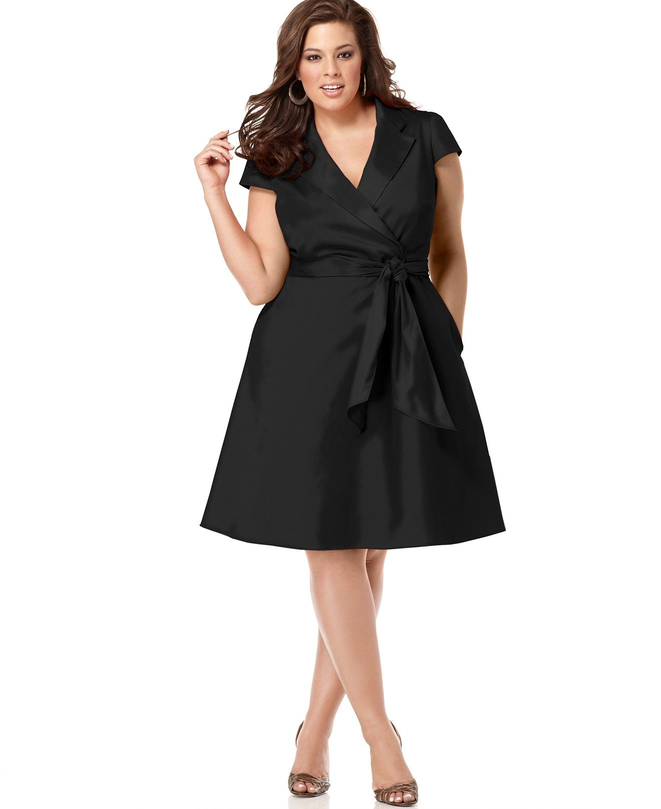 Spense Plus Size Short-Sleeve Wrap Dress - Dresses - Plus ...