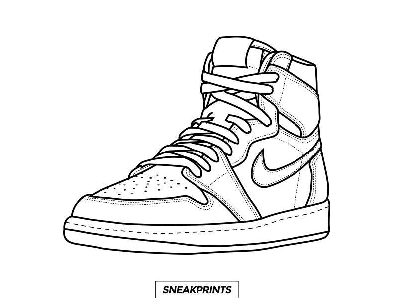 Sneakprints Shoes Drawing Sneakers Drawing Sneakers Sketch