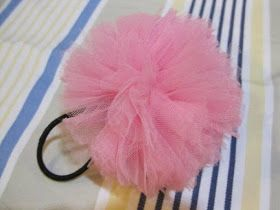 I Like Paper Cutting   Craft  Tulle Hair Tie DIY  427ab5bf995
