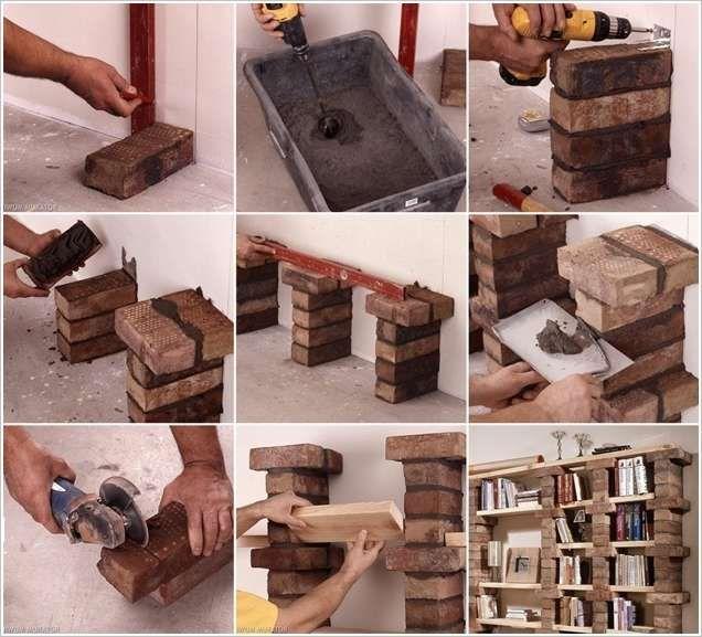 Isn T This Diy Brick Bookshelf Simply Amazing Bookshelves Diy