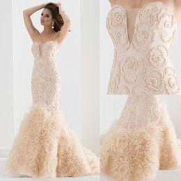 Fishtail Evening Dress Ivory