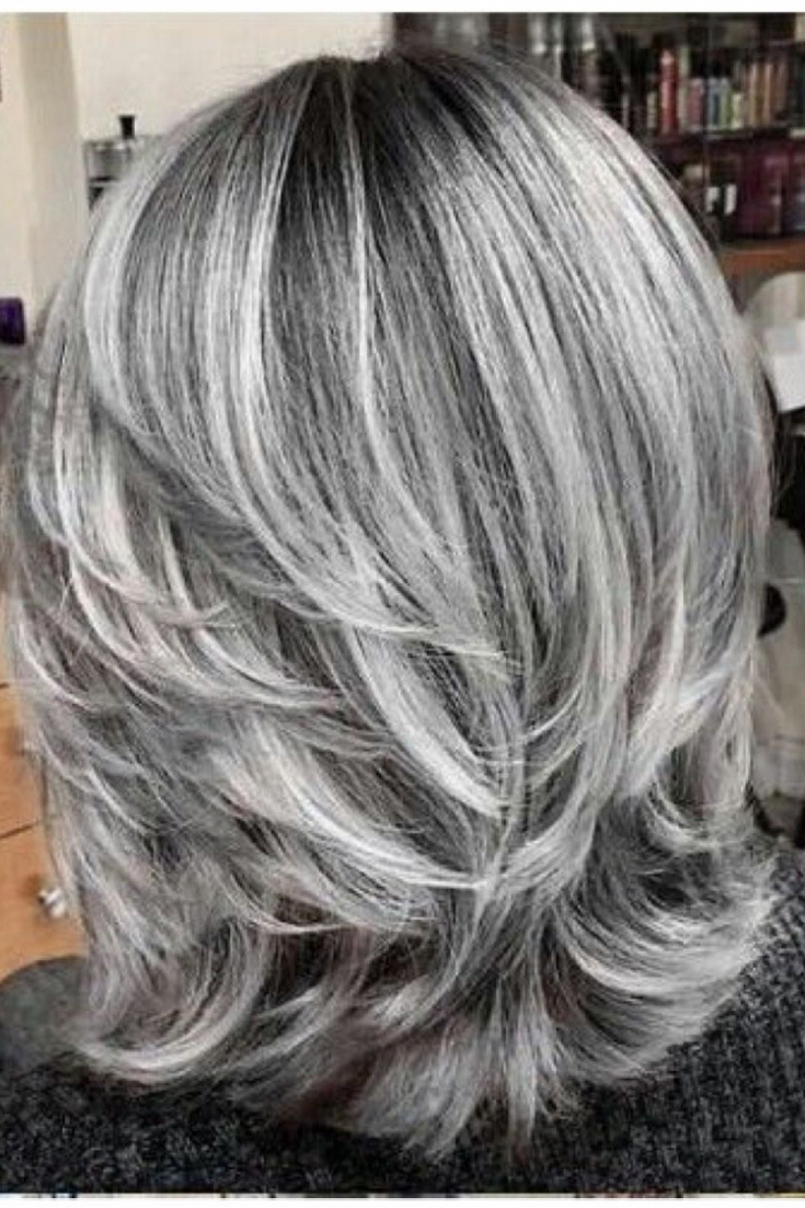 Brunettes Color Gray Hair Ideas Silver Hair Highlights Over 50 Ha Brown Hair With Silver Highlights Brunette Hair Color Brown Hair With Blonde Highlights