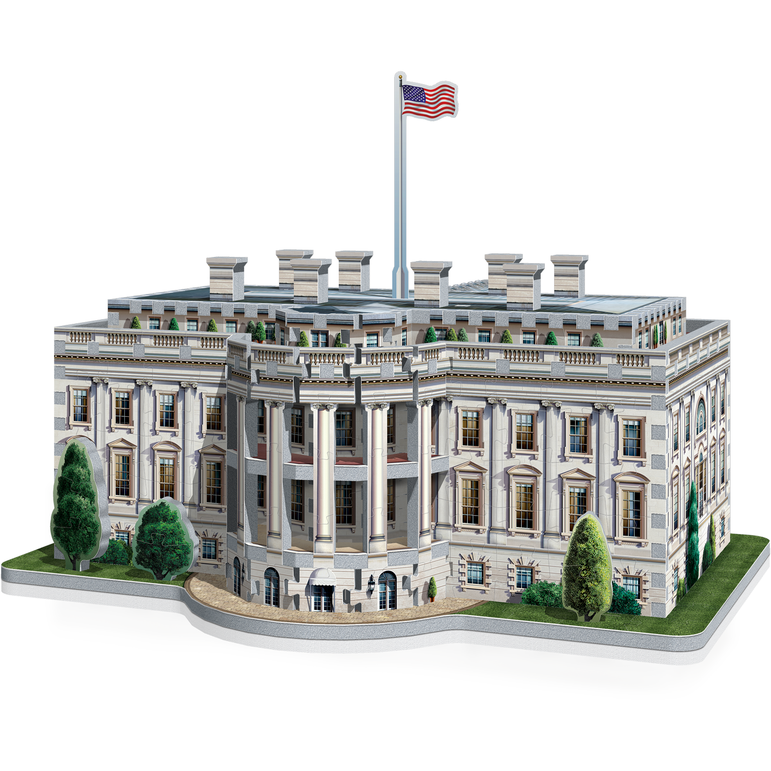 The White House 3d Puzzle 490 Pieces From Wrebbit 3d Washington United States White House 3d Jigsaw Puzzles 3d Puzzles