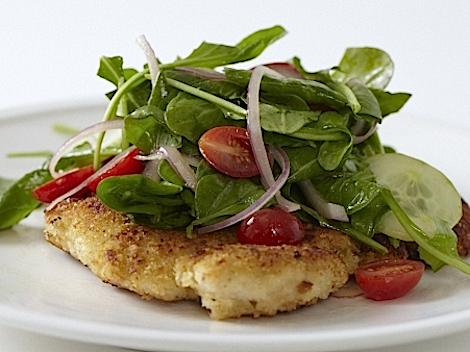 Dinner Tonight: Crispy Chicken Paillard with Arugula Salad & Lemony Vinaigrette