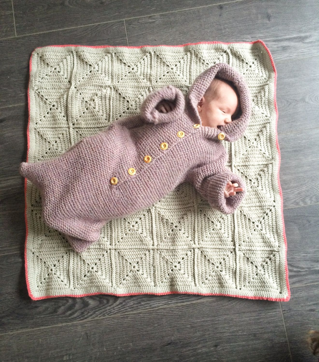 Baby Bunting Bag Knit Baby Bunting Bag Bunting Bag Size 1 ...