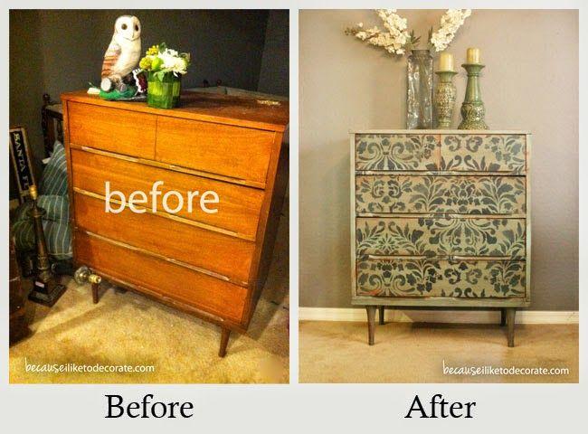 commode relooké meubles patinés relookés Pinterest - moderniser des vieux meubles