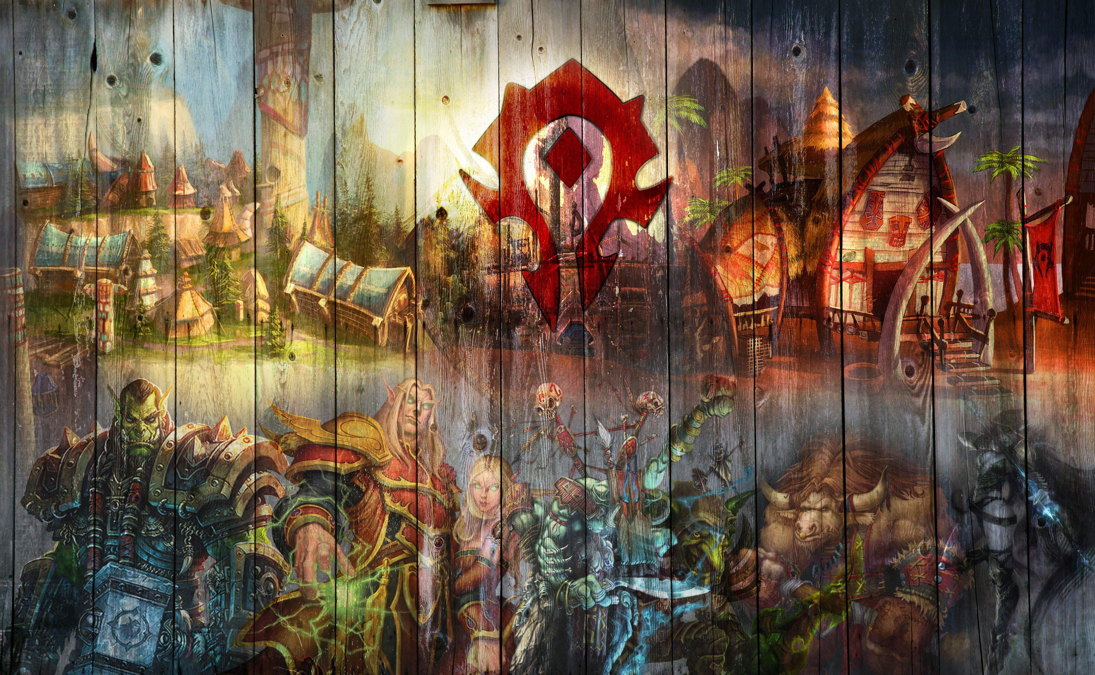 Wallpaper Horde Version By Arixev World Of Warcraft Wallpaper Warcraft Art World Of Warcraft
