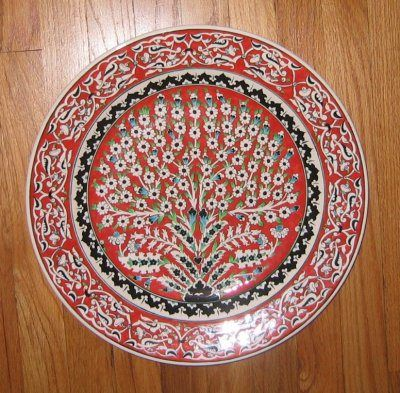 Turkish Tree of Life on a decorative porcelain plate & Turkish Tree of Life on a decorative porcelain plate | Tree - a ...
