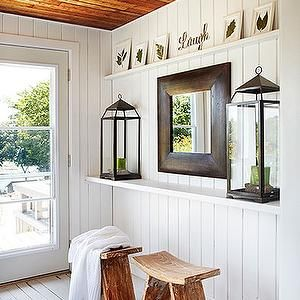 White Painted Tongue And Groove Paneling In Bedrooms |   White Wood Paneled  Walls, Tongue