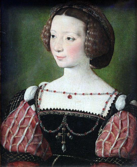 1550 Jean Clouet - Portrait of Beatrix Pacheco, Countess of Montbel und Entremonts