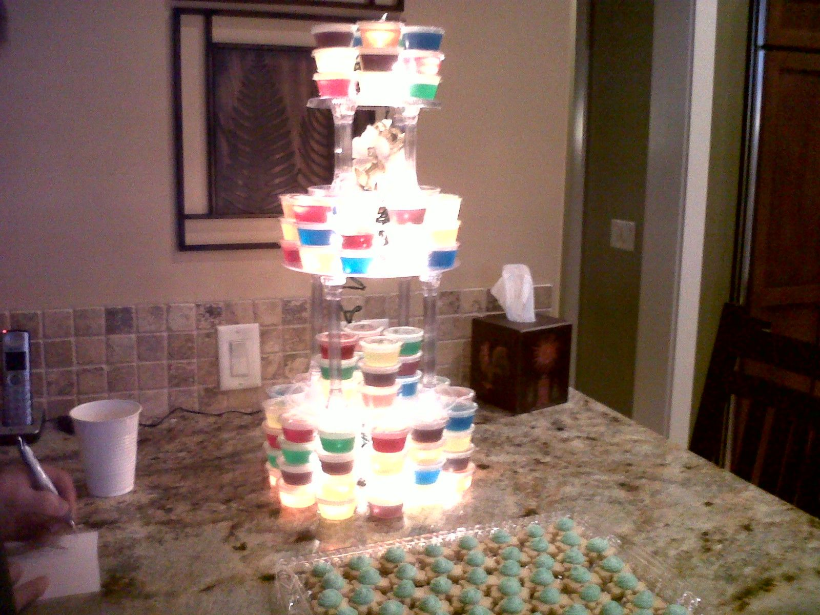 wedding cake jello shot recipe 3 tiered jell o cake tower creations by cameron 22993