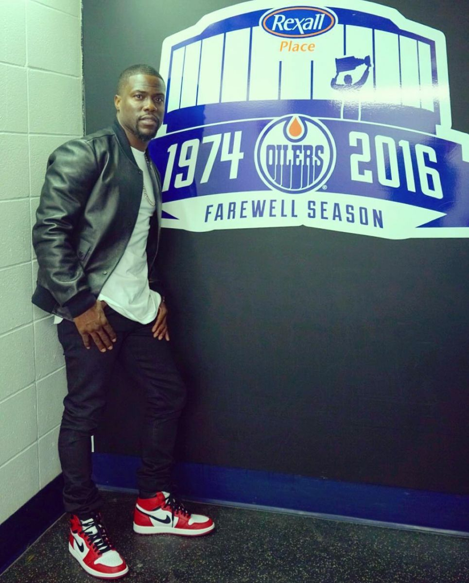f9cbed63553 Kevin Hart wearing the  Chicago  Air Jordan 1